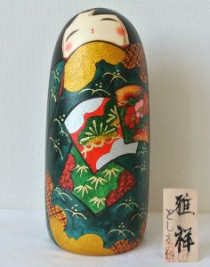 Kokeshi doll by Toshio Gasyoh #ST24