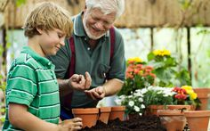 Autumn planting. Get your kids and grandkids involved in the garden ♥♥  this Autumn by having them help you create an Autumn pot full of leafy plants and spring bulbs