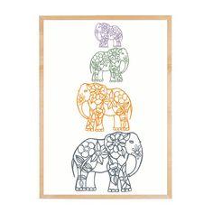 Elephants Decor  Family Tree  Gift for Babies  by piiapodersalu, $23.00