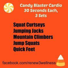 Candy Blaster Cardio #renew3 #renew3wellness #halloweencandy #halloweenworkout