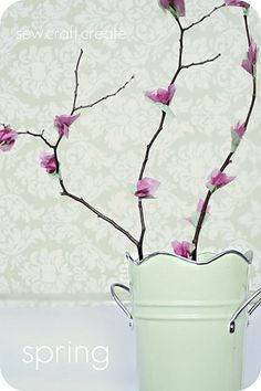 tissue paper blossoms