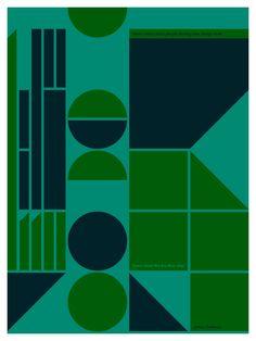 Tom Davie | Grid Posters. Emerald green