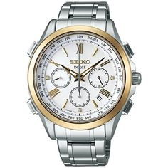 SEIKO DOLCE Men's Watch Solar radio fix sapphire glass 10 ATM water resistant
