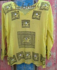 Batinha amarela, algodão, indiana (1)