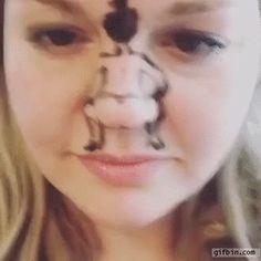 Nose twerking