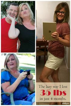 I didn't use pills or exercise,. I was totally lazy, and still lost 35 LBS in 4 months. (SherBailey.com)