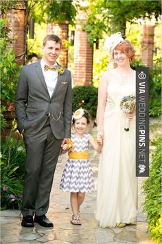 So good! - gray and yellow chevron flower girl dress  Vintage yellow DIY wedding at Winter Park Farmers Market Florida | CHECK OUT MORE GREAT FLOWER GIRL AND RING BEARER PHOTOS AND IDEAS AT WEDDINGPINS.NET | #weddings #wedding #flowergirl #flowergirls #rings #weddingring #ringbearer #ringbearers #weddingphotographer #bachelorparty #events #forweddings #fairytalewedding #fairytaleweddings #romance