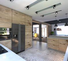 Aranżacje wnętrz - Kuchnia: Projekt domu jednorodzinnego 4 - Duża kuchnia, styl nowoczesny - BAGUA Pracownia Architektury Wnętrz. Przeglądaj, dodawaj i zapisuj najlepsze zdjęcia, pomysły i inspiracje designerskie. W bazie mamy już prawie milion fotografii!