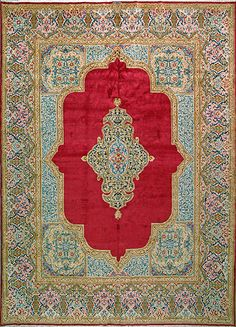 "Kerman Persian Rug, Buy Handmade Kerman Persian Rug 9' 6"" x 13' 3"", Authentic Persian Rug"