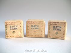 BOOTS The Chemist Old English Lavender Bath Cubes vintage English  toiletry, 1960s  bathroom accessory, by VintageImageBox