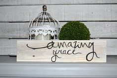 amazing grace handpainted mini pallet sign by blissfulpickens
