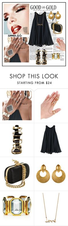 """Warm night out"" by nordicstyle ❤ liked on Polyvore featuring Flash Tattoos, Giuseppe Zanotti, rag & bone, Juicy Couture, Solange Azagury-Partridge, summerdate and rooftopbar"