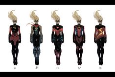 Take a peek at some of the great concept art for Ms. Marvel's transformation into the new Captain Marvel by Dexter Soy. Ms Marvel, Marvel Comic Universe, Marvel Art, Marvel Heroes, Comic Book Artists, Comic Book Characters, Marvel Characters, Marvel Movies, Comic Books Art