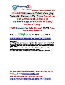 11 Best Braindumpgo 2018 NEW Cisco 200-355 Dump with PDF and