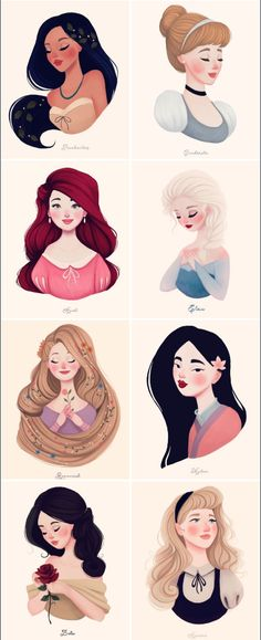 Disney Princesses by Diana Pedott | dianapedott