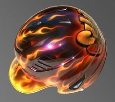 airbrushed baseball helmets designs | Airbrushed Batting Helmets
