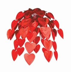 Red Heart Cascade #cascade #heart #valentinesday #hangingdecoration #hanging