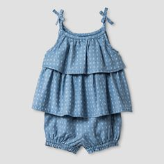S17 Baby GirlsTexture Top and Woven Short Set by Baby Cat & Jack - $12.99