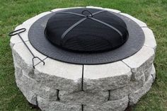 New Backyard Addition {Fire Pit on a Budget} - Use existing free standing fire pit and add pavers around it