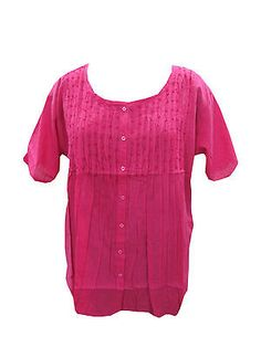 BOHO-HIPPIE-GYPSY-WOMEN-TOP-PINK-EMBROIDERED-BUTTON-DOWN-COTTON-BLOUSE-XL  http://stores.ebay.com/mogulgallery