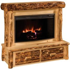 Amish Rustic Log Fireplace With Mantel ($950) ❤ liked on Polyvore featuring home, home decor, fireplace accessories, outdoor storages, log home decor, outdoor fireplace insert, outside home decor and outdoor home decor