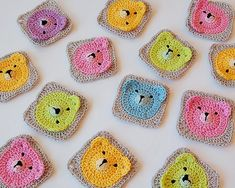 These are my new Teddy Bear Granny Squares. Recently, I saw this  cute granny square on Pinterest (the endless source of inspiration for...