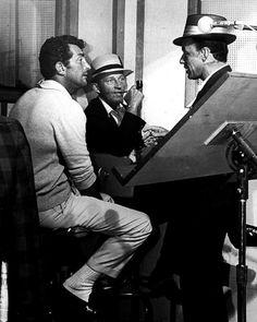 Dean Martin, Bing Crosby and Frank Sinatra.