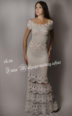 """Ручная работа Платье  """" Катарина""""   от бразильского дизайнера  Katia Portes  в  моём  исполнении"""