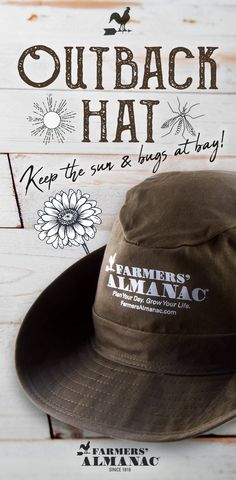 fa3d6ded Farmers' Almanac Outback Hat - An FA exclusive! Whether you're heading to