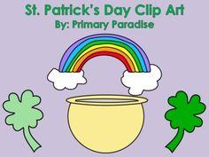 St. Patrick's Day Clip Art Set FREEBIE