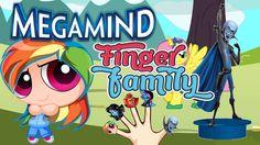 Megamind Finger Family Nursery clhildren rhymes   Finger family songs ki...