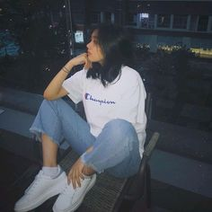 Korean Girl Photo, Korean Girl Fashion, Cute Korean Girl, Ulzzang Fashion, Teenage Girl Photography, Girl Photography Poses, Fashion Photography, Style Ulzzang, Ulzzang Girl