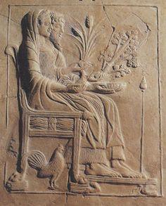 Persephone and Hades, relief  Reggio, Museo Nazionale
