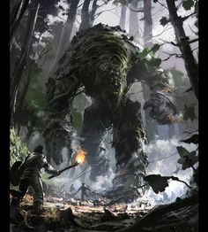 Fantasy: Life Colossus - 2D Digital, Concept art, Digital paintings, Fantasy, Illustrations, PhotoshopCoolvibe – Digital Art