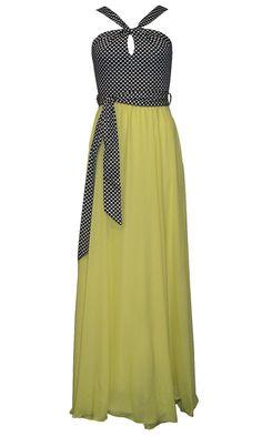 Maxi φόρεμα με πουά