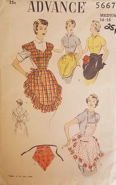 Advance pattern 3667 1950s aprons