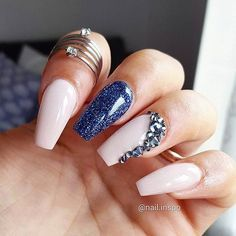 These would be perfect if they were on their own. The glitter blue by itself and the nude and its design together.