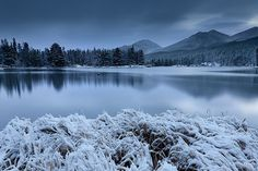 Twilight at Sprague Lake in Rocky Mountain National Park