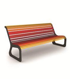 Panchina in acciaio MOKO Collezione Moko by CITYSI | design GIBILLERO design