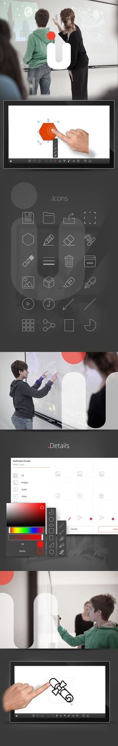 U project is an interactive app that improves new learning models (such as interactive multi-touch whiteboard) to teach sciences at schools. Project involved a development of #HTML5 #app that provides teachers with the possibility to draw, sketch, import various media, and interact with them via multi-touch gestures.  It's fueled with  #React.js & #Redux, #ES6 #JavaScript, #Fabric.js, #Websockets, #XMPP serverand Kurento WebRTC server. Final application is running in NW.js wrapper.