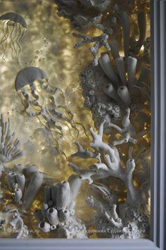 Мировые Виртуозы РЕЗЦА и КИСТИ Wall Painting Decor, Diy Wall Art, Wall Sculptures, Sculpture Art, Cardboard Sculpture, Plaster Art, Seashell Art, Sea Art, Mural Art