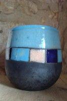mug bleu motifs rectangle