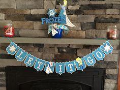 Sparkly Frozen Let it Go Banner; Elsa Banner; Olaf Banner  by MKScrapAndParty on Etsy https://www.etsy.com/listing/225564007/sparkly-frozen-let-it-go-banner-elsa