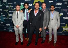 Entourage looking fresh to death. Kevin Connolly, Adrian Grenier, Jeremy Piven, Kevin Dillon, and Jerry Ferrara.