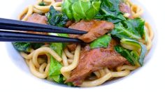 Fried Beef Noodles: with soy sauce, bokchoy and seared steak... way better than getting take-out!