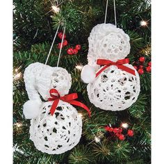 Mary Maxim - Snowman Ornaments - Yarn Crafts - Crafts