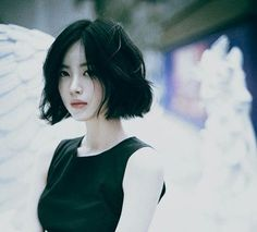 The Japanese Short Parted Wavy Cut