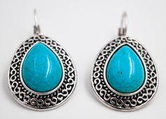 Howlite Stones earrings, howlite earrings, Romantic jewelry, Bohemian earrings, Gifts for her, boho chic bijoux by wikandah on Etsy