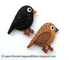 DIY Felt Blackbirds Tutorial with FREE Pattern
