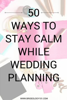 Are you engaged and already feeling stressed out? Need some ideas to destress? Check out these 50 ways to stay calm while wedding planning! Wedding Guest List, Wedding Advice, Free Wedding, Plan Your Wedding, Wedding Day, Wedding Bells, Wedding Dreams, Wedding Stuff, Feeling Stressed